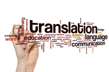 Translation word cloud