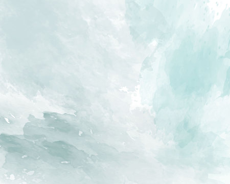 Blue soft watercolor abstract texture. Vector illustration.