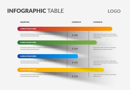 Info Chart Layout with Horizontal Bars