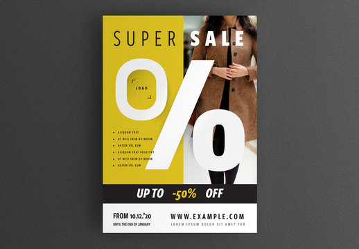 Business Flyer Layout with Typographic Accent
