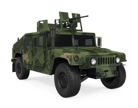Humvee High Mobility Multipurpose Wheeled Vehicle Isolated