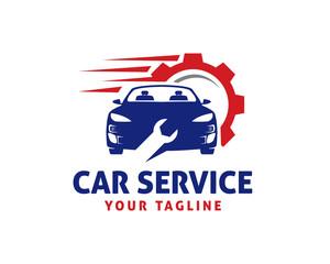 Automotive Car Logo Template Vector. Automotive technician design. Auto service illustration