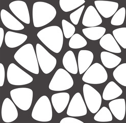 Organic forms seamless pattern vector. Abstract rounded shapes.