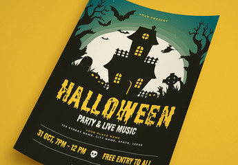 Halloween Party Flyer Layout