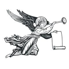 llustration of the angel god