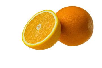 Pomarańcza izolowana na białym tle