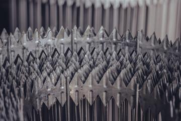 Roll of steel metal razor wire