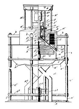 Magnetic Separator vintage illustration.