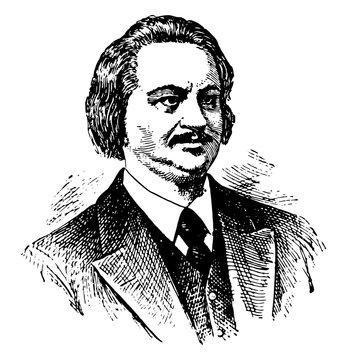 Honore de Balzac vintage illustration