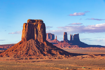 Wall Murals Blue Monument Valley on a sunny day