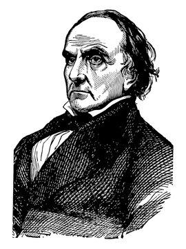 Daniel Webster vintage illustration