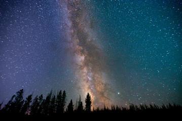 Foto op Aluminium Noorderlicht Stars - Sky