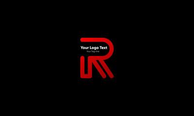 Abstract letter R logo design. Creative,Premium Minimal emblem design template. Graphic Alphabet Symbol for Corporate Business Identity. Initial RR vector element