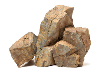 Fototapeta Rocks on a white background obraz
