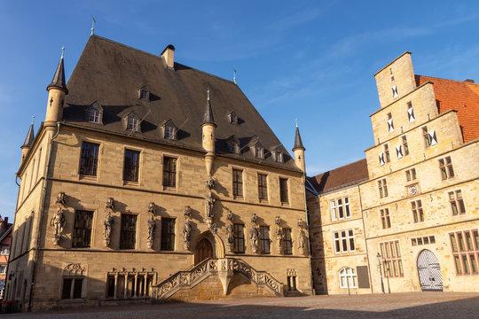 Das historische Rathaus und die Stadtwaage der Stadt Osnabrück, Niedersachsen
