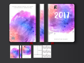 Colorful Diary Cover design for 2017.