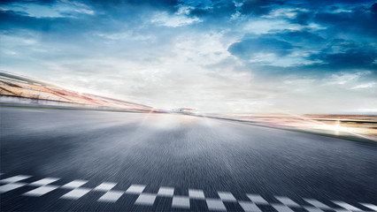 Acrylic Prints F1 empty road track scene background