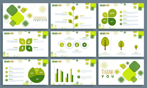 Environmental Presentation Templates set.