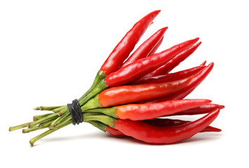 Canvas Prints Hot chili peppers Red chili peppers on white background