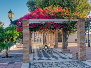 Typical Andalusian patio in southern Spain