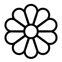 Flower line vector icon