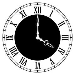 Clock dial face vector illustration