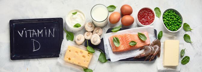 Fototapeta Foods rich in vitamin D obraz