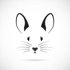 Cute mouse muzzle design. Simple vector mouse illustration.