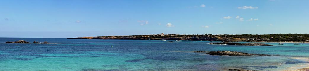 Beautiful seaside of balearic island Formentera