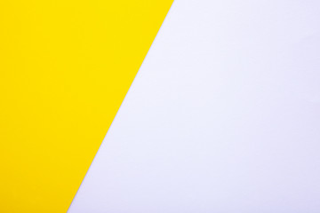 White and yellow paper texture as background with place for text