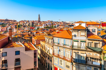 Panorama of the city of Porto in Portugal