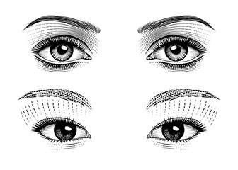 Eyes eastern and european girls.