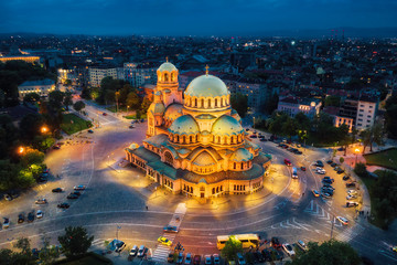 Alexander Nevsky Cathedral in Sofia, Bulgaria, taken in May 2019