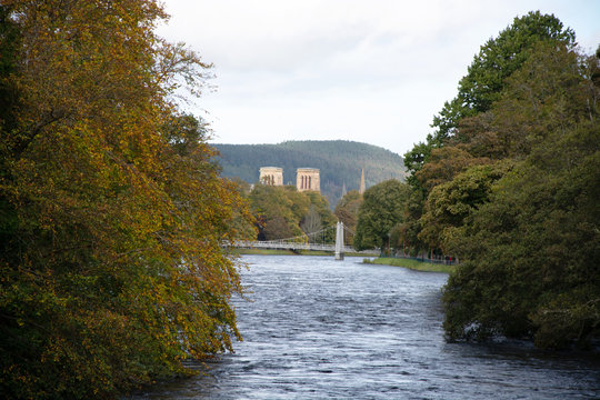Infirmary Bridge and Inverness Cathedral closeup