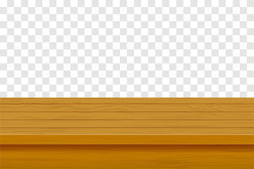 wooden table top vector illustration
