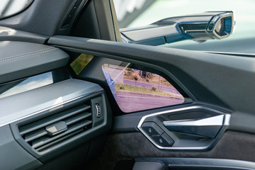 Electronic wing mirror