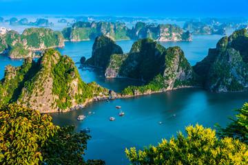 Panoramic view of Ha Long Bay, Vietnam