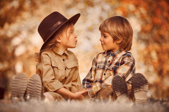 first kiss children