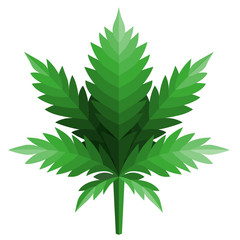 cannabis leaf logo Designs Inspiration Isolated on White Background