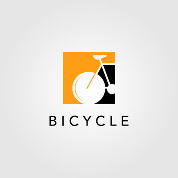 bicycle bike logo icon negative space vector design illustration