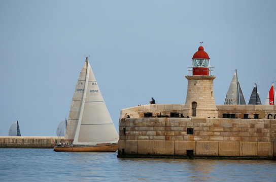 Rolex Middle Sea Race, a 606 nautical mile offshore classic race from Malta, round Sicily and Lampedusa and back, in Valletta's Grand Harbour