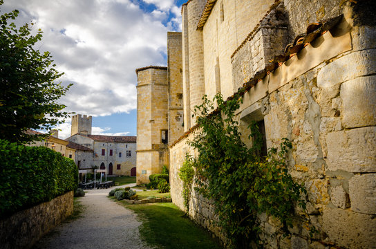 The fortified village of Larressingle, France