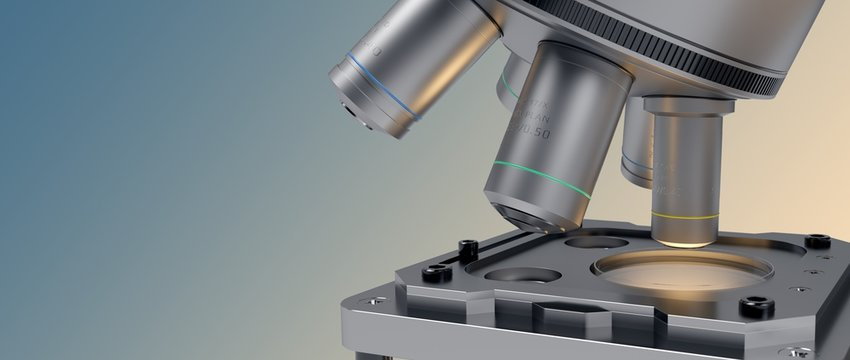 Medic laboratory. Microscope.