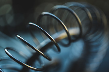 Photo sur Aluminium Spirale Close-Up Of Spiral Metal. Studio Shot.