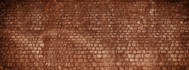 Red brick wall texture panorama background