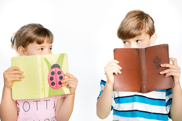 Bible Reading Loving Kids