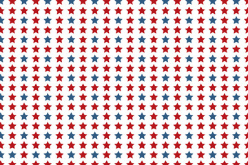 Patriotic Background - Stars. Seamless military or July 4th wallpaper. Americana patriot background. Red and blue stars.