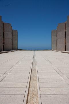 La Jolla's Salk Institute campus, designed by architect Louis Kahn