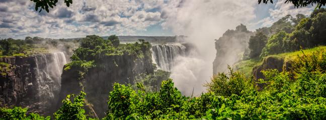 Foto auf AluDibond Wasserfalle Victoria falls