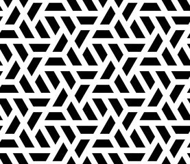 Vector seamless geometric pattern with halves of hexagon.